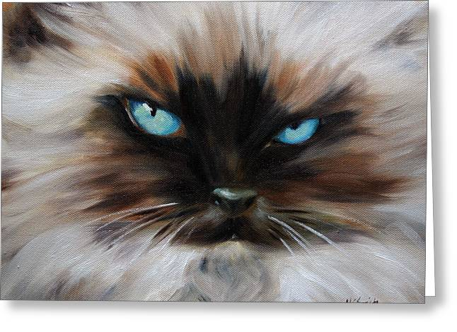 Kitten Prints Pastels Greeting Cards - Himalayan Greeting Card by Mary Sparrow