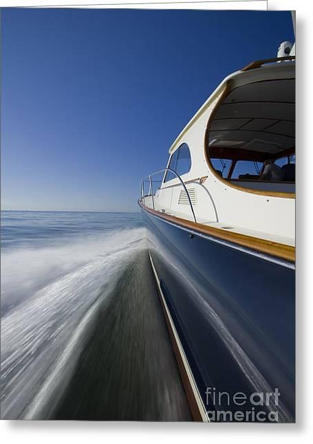 Hinckley Talaria 44 Motor Yacht Greeting Card by Dustin K Ryan