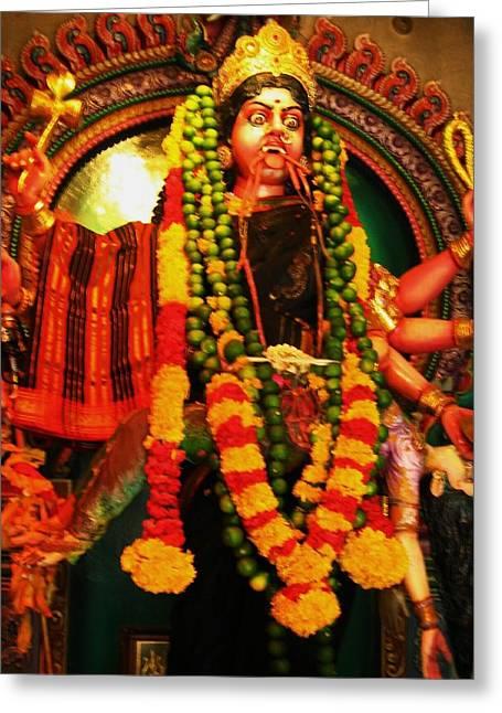 Hindu Goddess Greeting Cards - Hindu Goddess Greeting Card by Cris Motta