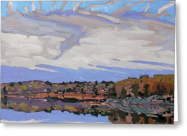 Plein Air Greeting Cards - Hint of Spring Greeting Card by Phil Chadwick
