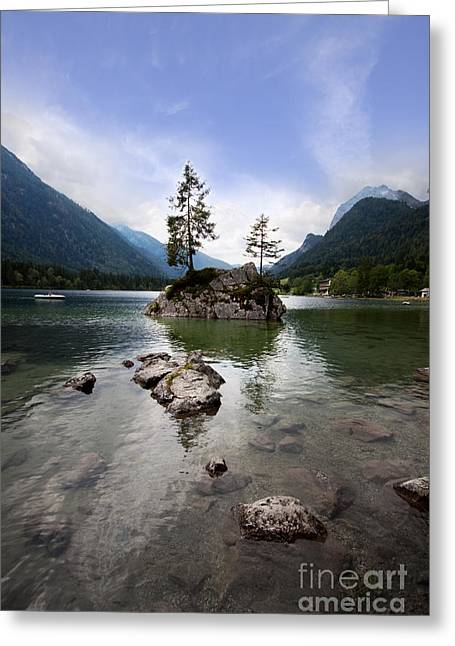 Height Greeting Cards - Hintersee Greeting Card by Nailia Schwarz