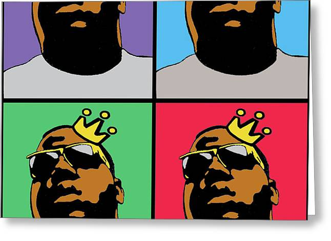 HIP HOP ICONS THE NOTORIOUS BIG Greeting Card by STANLEY SLAUGHTER JR