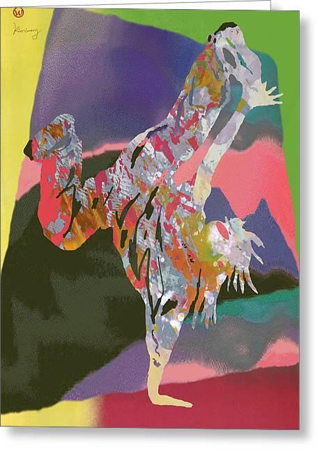 Pop Mixed Media Greeting Cards - Hip Hop Street Art Dancing poster - 2 Greeting Card by Kim Wang