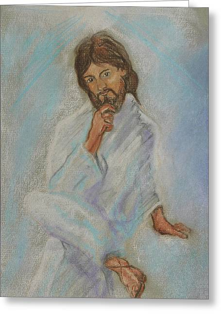 Religious Paintings Greeting Cards - Hip Jesus Greeting Card by Michael Nagel