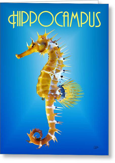 Sea Horse Greeting Cards - Hippocampus  Greeting Card by Joaquin Abella