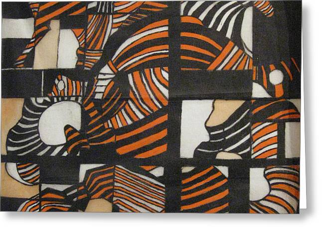 Orange Tapestries - Textiles Greeting Cards - Hips Greeting Card by Diana Tatucu