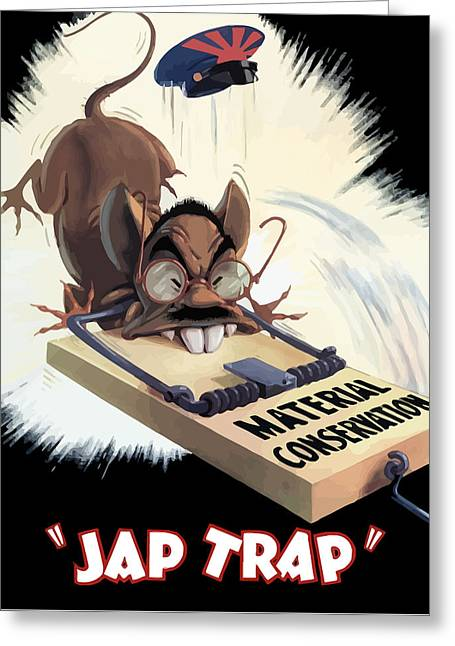 War Propaganda Greeting Cards - Hirohito As A Rat Greeting Card by War Is Hell Store