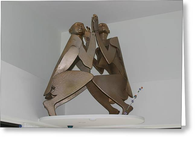 Gestures Sculptures Greeting Cards - His And Hers Greeting Card by Michael Jude Russo