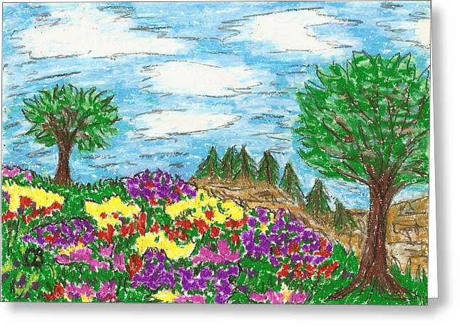 Playful Pastels Greeting Cards - His field Greeting Card by Cathy Bishop