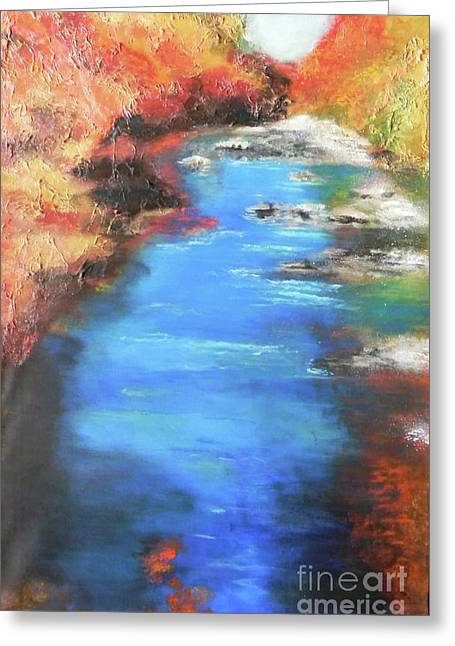 Brook Mixed Media Greeting Cards - His Glory Greeting Card by Susan  Toler
