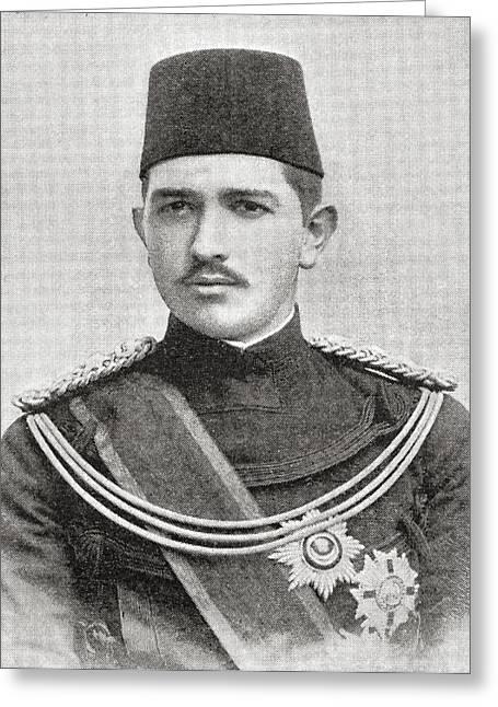 His Highness Abbas II, Hilmi Bey, Aka Greeting Card by Vintage Design Pics
