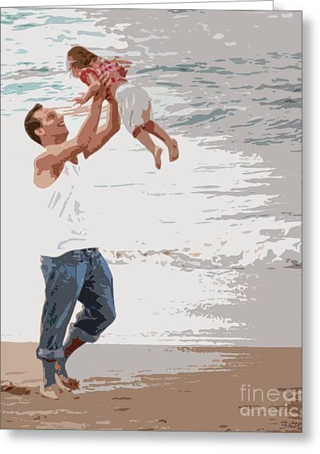 Angel Blues Greeting Cards - His Joy Greeting Card by Sabrina Wheeler