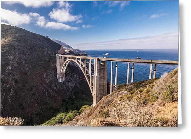 Big Sur California Greeting Cards - Historic Bixby Bridge Greeting Card by Joseph S Giacalone