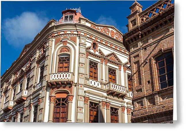 Cuenca Greeting Cards - Historic Building in Cuenca Ecuador Greeting Card by Jess Kraft