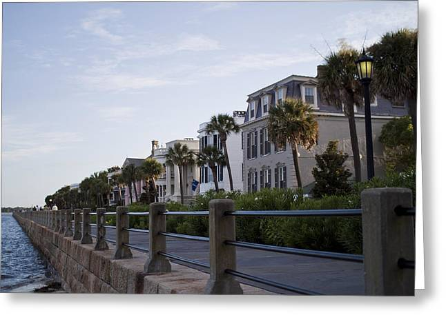 Charleston Houses Greeting Cards - Historic Charleston Battery Greeting Card by Dustin K Ryan