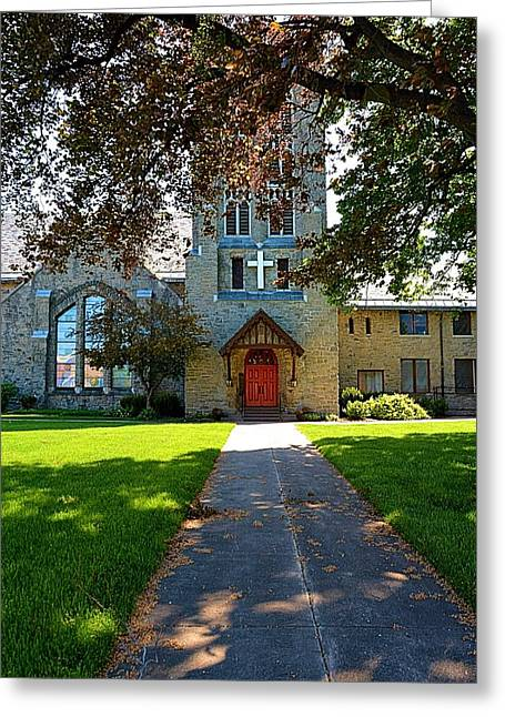 Christain Cross Greeting Cards - Historic Church in Rochester New York Greeting Card by Richard Jenkins