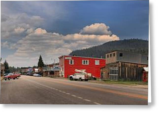 Cooke Greeting Cards - Historic Cooke City Main Street Greeting Card by Adam Jewell