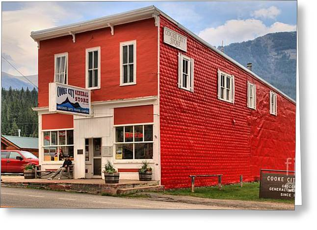 Cooke Greeting Cards - Historic Cooke City Store Greeting Card by Adam Jewell