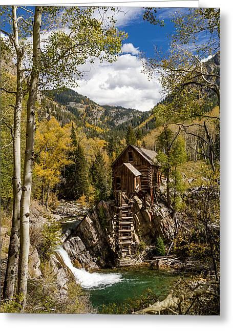 Historic Crystal Mill Marble Colorado Greeting Card by Teri Virbickis
