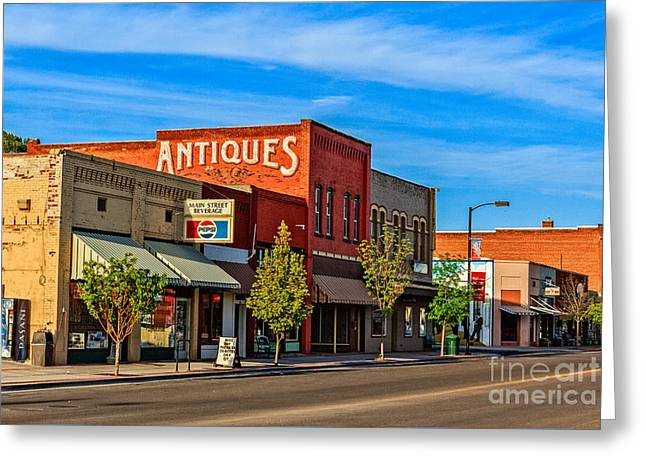 Historic Downtown Emmett 05 Greeting Card by Robert Bales