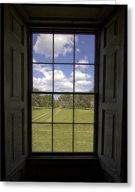 Hall Greeting Cards - Historic Drayton Hall Window in Charleston South Carolina Greeting Card by Dustin K Ryan