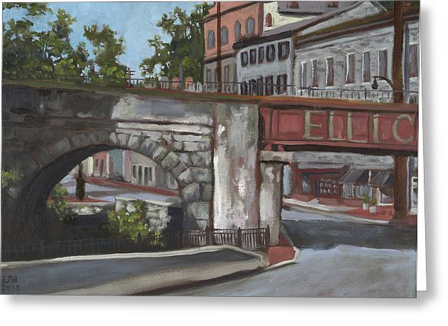 Edward Williams Greeting Cards - Historic Ellicott City  Greeting Card by Edward Williams