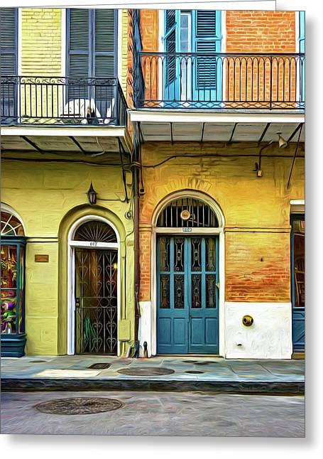 Historic Entrances - Paint Greeting Card by Steve Harrington