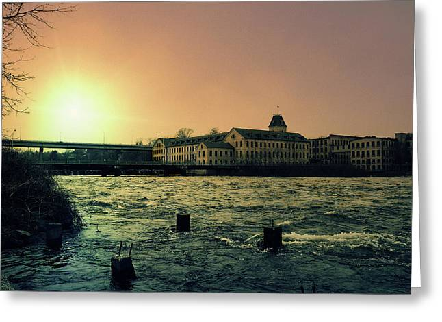Fox River Greeting Cards - Historic Fox River Mills Greeting Card by Joel Witmeyer