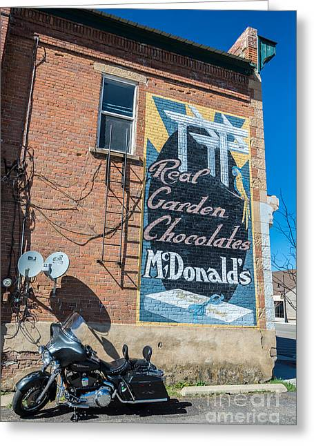 Farm Towns Greeting Cards - Historic Ghost Sign in Coalville - Utah Greeting Card by Gary Whitton
