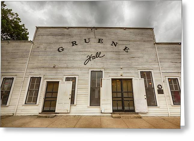 Historic Gruene Hall Greeting Card by Stephen Stookey