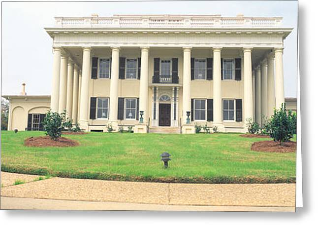 Seat Of Power Greeting Cards - Historic Home From 1836, Macon, Georgia Greeting Card by Panoramic Images