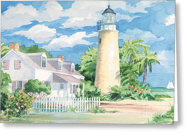 Historic Key West Lighthouse Greeting Card by Paul Brent