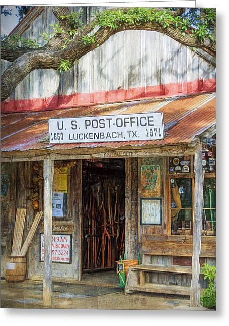 Greeting Cards - Historic Luckenbach TX Greeting Card by Joan Carroll