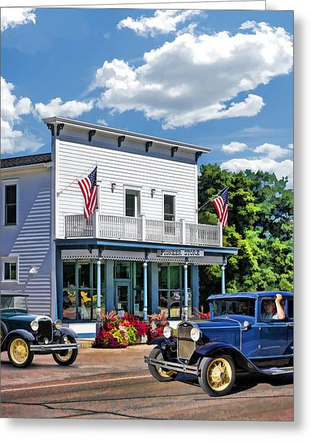 Main Street Greeting Cards - Historic Pioneer Store in Ellison Bay Door County Greeting Card by Christopher Arndt