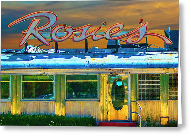 Historic Rosie's Diner Greeting Card by Randall Nyhof