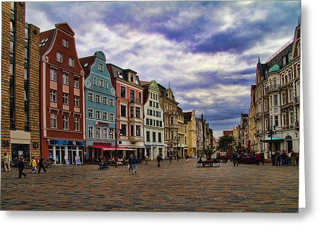 Historic Rostock Germany Greeting Card by David Smith