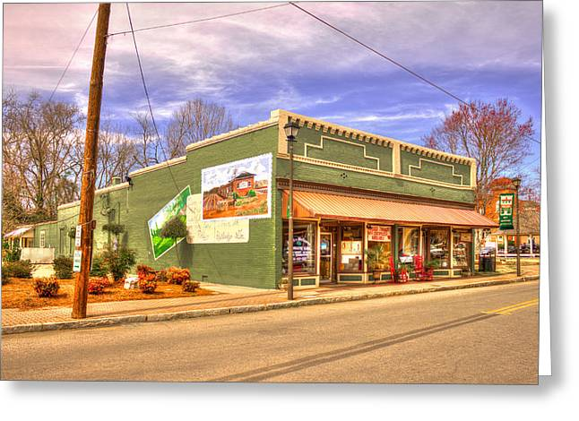 Store Fronts Greeting Cards - Historic Rutledge Georgia Greeting Card by Reid Callaway