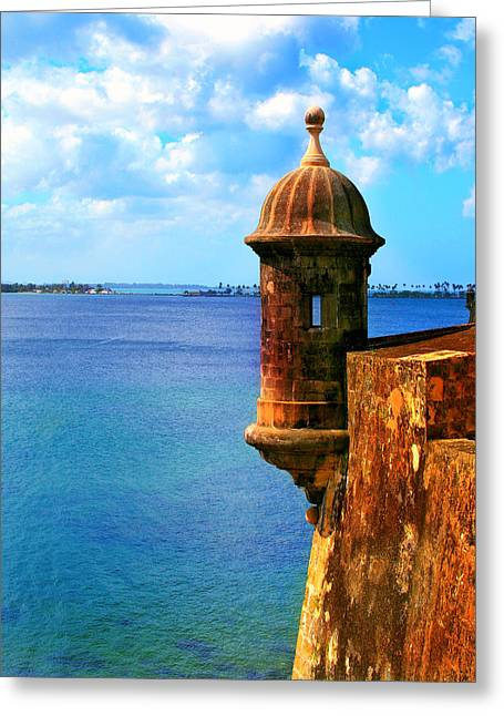 Military Pictures Greeting Cards - Historic San Juan Fort Greeting Card by Perry Webster