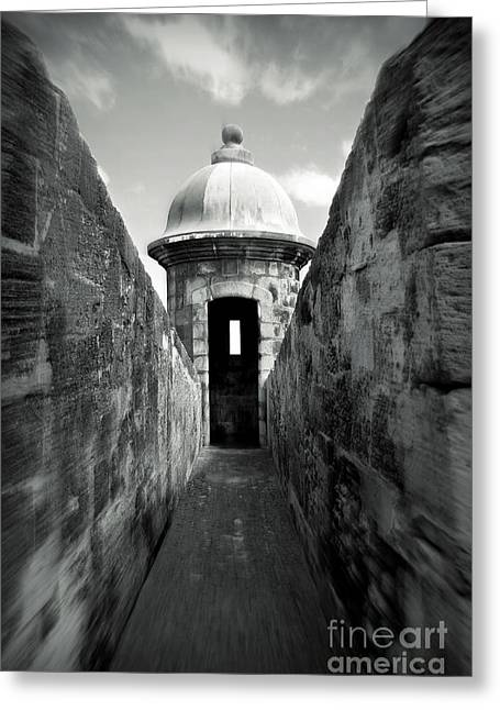 Military Pictures Greeting Cards - Historic San Juan Greeting Card by Perry Webster
