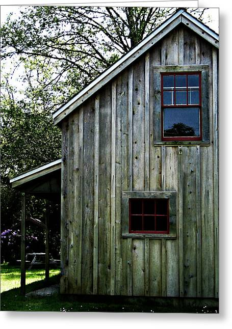 Shed Greeting Cards - Historic Shed Greeting Card by Mg Rhoades