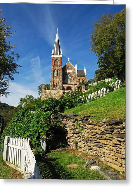 Historic Stone Church Harper's Ferry Greeting Card by Mark VanDyke