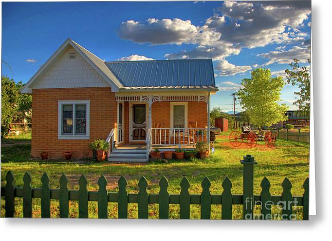 Hdr Landscape Greeting Cards - Historic Tombstone in Arizona Greeting Card by Charlene Mitchell