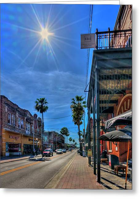 Historic Ybor Greeting Card by Marvin Spates