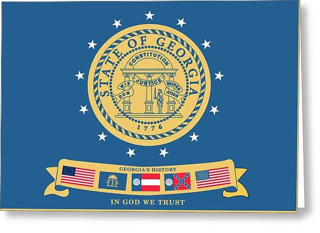 Historical Flag Of Georgia Greeting Card by American School