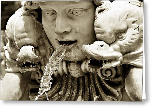 Historical Fountain in Rome Greeting Card by Marion McCristall
