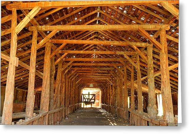 Historical Long Barn Greeting Card by Leland D Howard