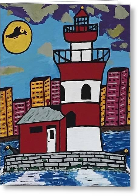 Historical Michigan Lighthouse Greeting Card by Jonathon Hansen