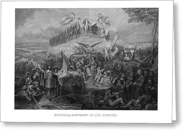 Columbus Greeting Cards - Historical Monument Of Our Country Greeting Card by War Is Hell Store