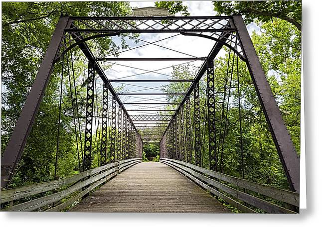 Ohio. Oh Greeting Cards - Historical Zoar Iron Bridge 1883 Greeting Card by Sharon Norman