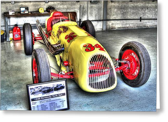Indy Car Greeting Cards - History Greeting Card by Jonathan Williams